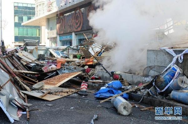 组图:沈阳地下通道爆炸 目击者称行人被崩飞