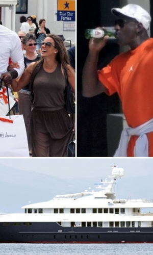 乔丹与娇妻希腊度蜜月 游艇出行秀恩爱