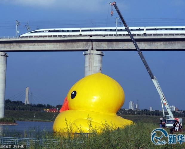 大黄鸭亮相园博园