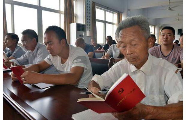 淅河镇对入党积极分子进行党的知识培训