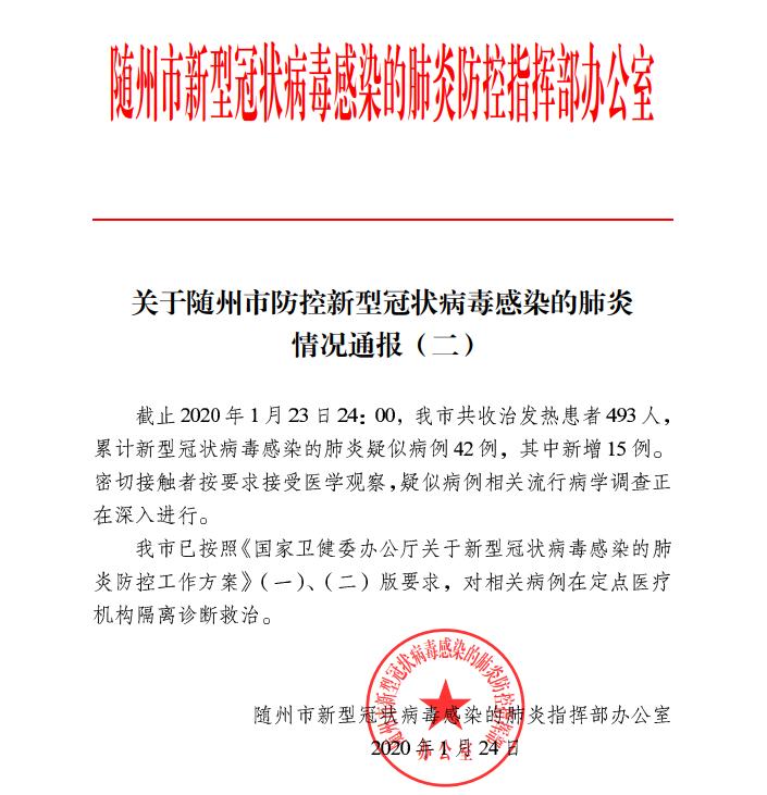 【权威发布】关于raybet雷竞市防控新型冠状病毒感染的肺炎情况通报(二)